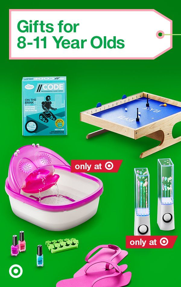 Give top toys like Dancing Water Speakers, Beyblade & more to make any 8 to 11 year olds' holiday.