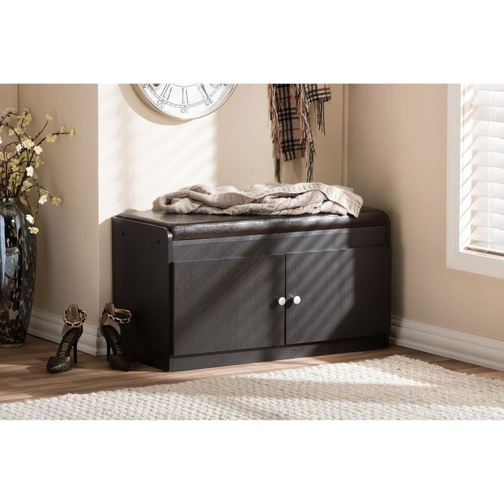 Ikea Variera Pull Out Container ~ 17 in Margaret Modern and Contemporary Dark Brown Wood 2 Door Shoe