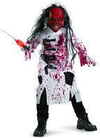 Hey this demented doctor scary costume for kids looks kind of like one of ours!