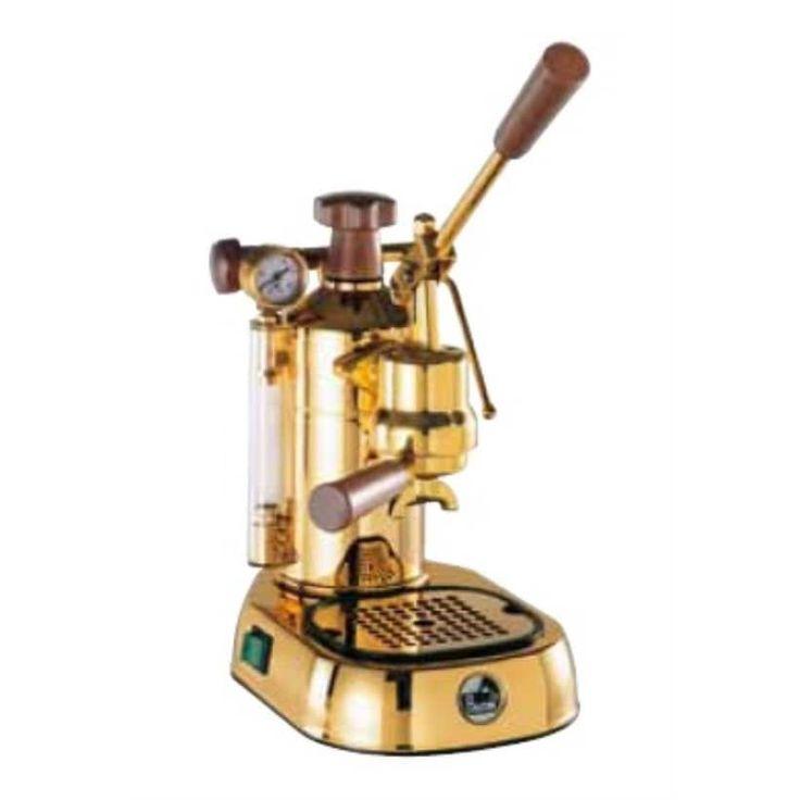La Pavoni PPG-16 Professional 16-Cup Manual Espresso Machine - Gold Plated