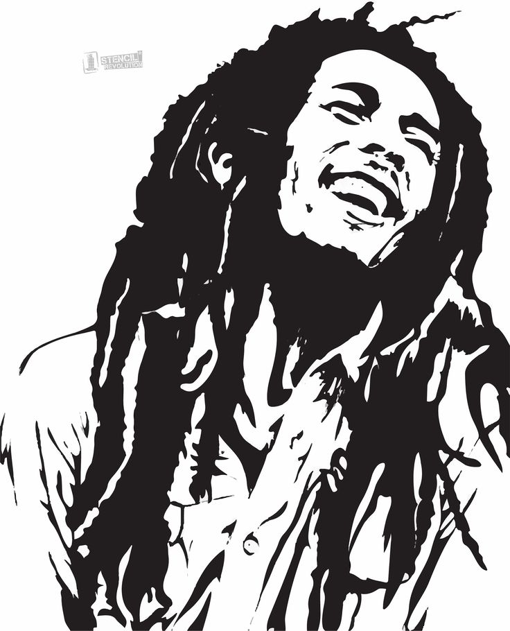 Download your free Bob Marley Stencil here. Save time and start your project in minutes. Get printable stencils for art and designs.