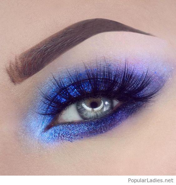 Blue and purple eye makeup for blue eyes #blueeyemakeup