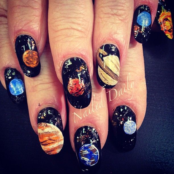 48 best out of this world nail art images on pinterest female solar system nails by jvnaildesign prinsesfo Gallery