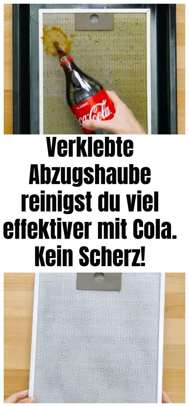 Verklebte Abzugshaube reinigst du viel effektiver mit Cola. Kein Scherz! –  #Instandhaltungsarbeiten