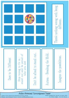 Round Peg Square Hole Autism Awareness on Craftsuprint - Add To Basket!