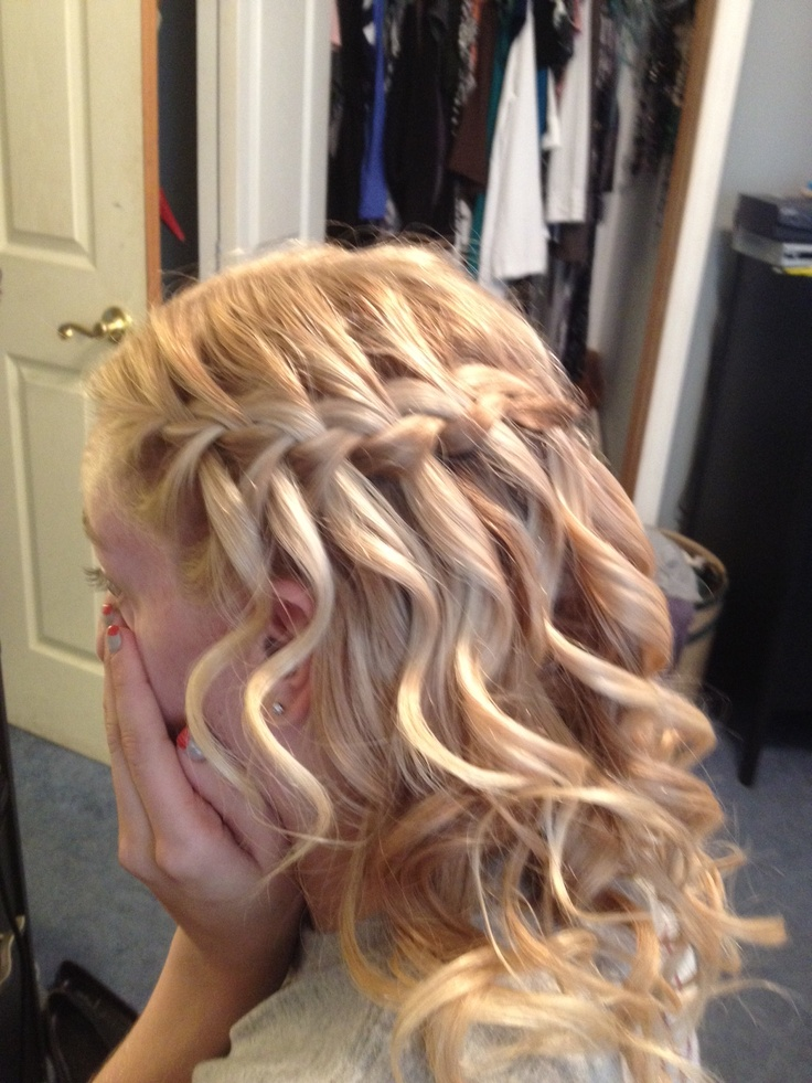 Super 1000 Ideas About Waterfall Braid Prom On Pinterest Prom Hair Hairstyles For Men Maxibearus