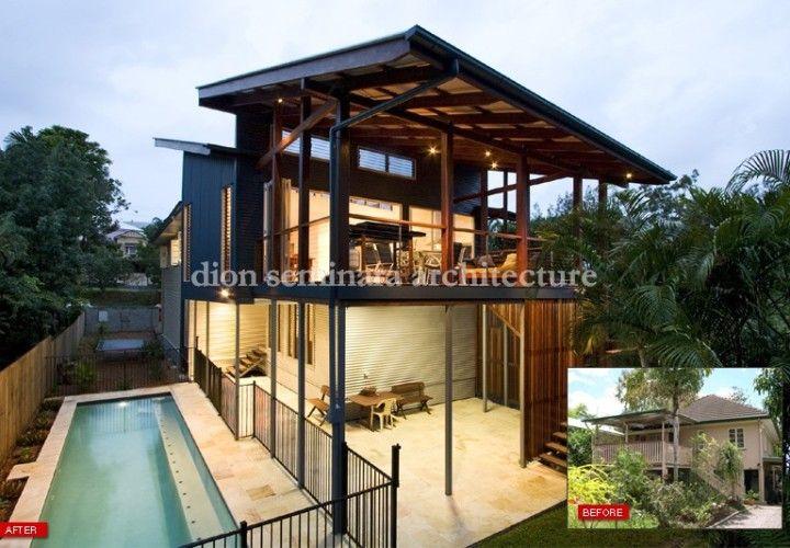 Eco Home Design in Norman Park Brisbane. Dion Seminara Architecture, Brisbane.