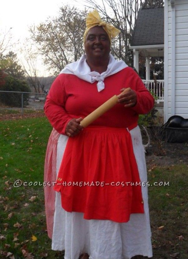 cool homemade aunt jemima costume - Halloween Home Costumes