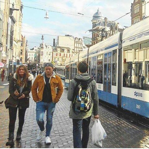 Taron Egerton and Emily Thomas in Amsterdam (his new gf???)