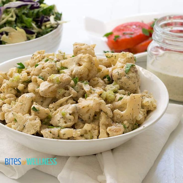Whole30 Cauliflower Potato Salad (Dairy Free, Gluten Free)