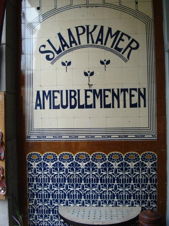 Jugendstil tile tableau, Zoutmanstraat 18 A, The Hague