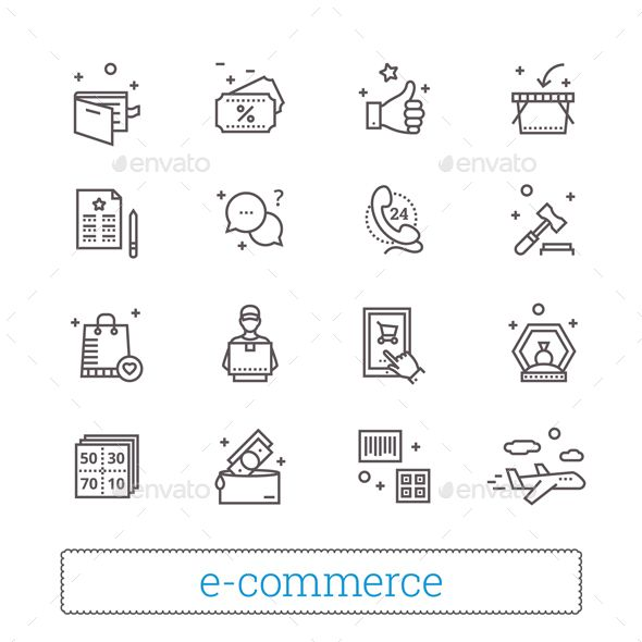 E-commerce, Retail, Shopping Thin Line #Icons. - Business Icons Download here: https://graphicriver.net/item/ecommerce-retail-shopping-thin-line-icons/20137029?ref=alena994