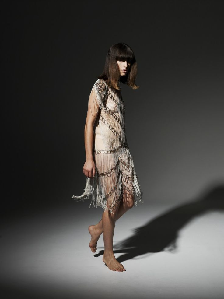 Our Neo Lace Gown made in collab with Tessa Blazey. 100% metal components. This piece was a finalist in the Powerhouse Museum International Lace Award aka Love Lace in Sydney, Australia. The exhibition is currently running from 30 July 2011 to April 2013.