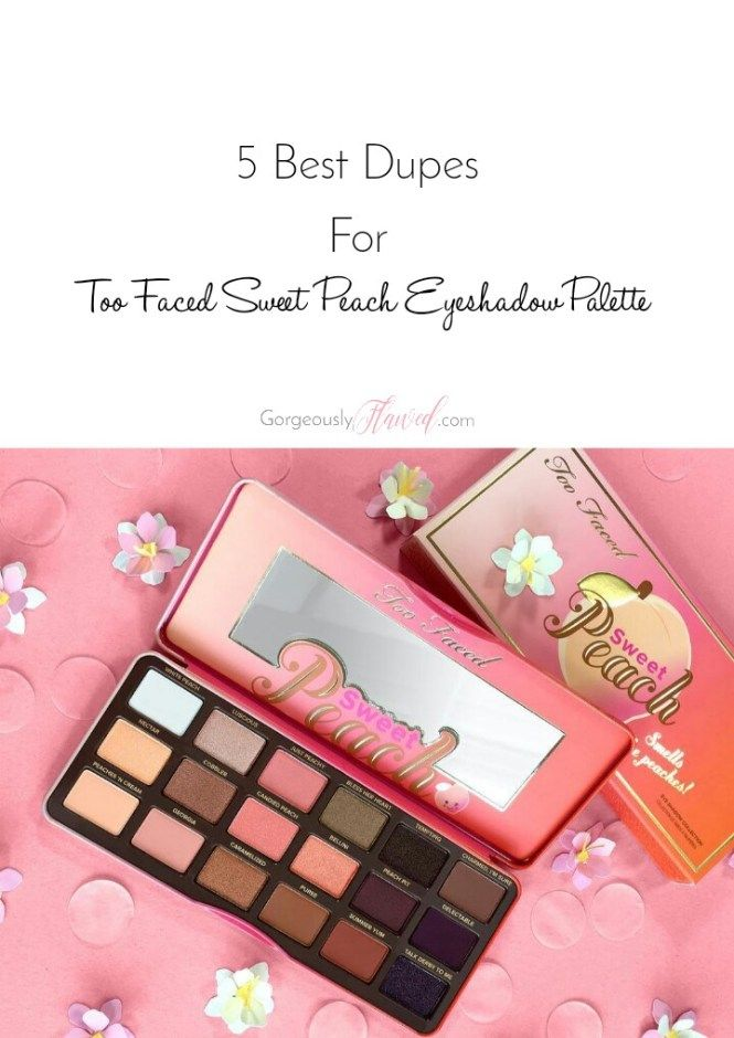 5 Best Dupes For Too Faced Sweet Peach Eyeshadow Palette |   The Sweet Peach Eyeshadow Palette by Too Faced is just everywhere on the internet! People are going totally crazy over this limited edition palette and honestly, it's so pretty that anyone can fall in love with it. But as they say – good things come with a huge price and so does this stunning sweet peach palette. It costs whooping $50 USD and is out of stock most of the times. So here are some dupes of this beauties palette!