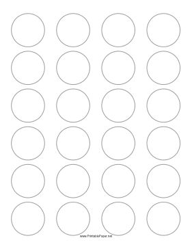 this printable paper has 24 1 5 inch circles for making