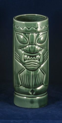 ORCHIDS-OF-HAWAII-Olive-Green-Sharp-Toothed-Tiki-Mug-DW113