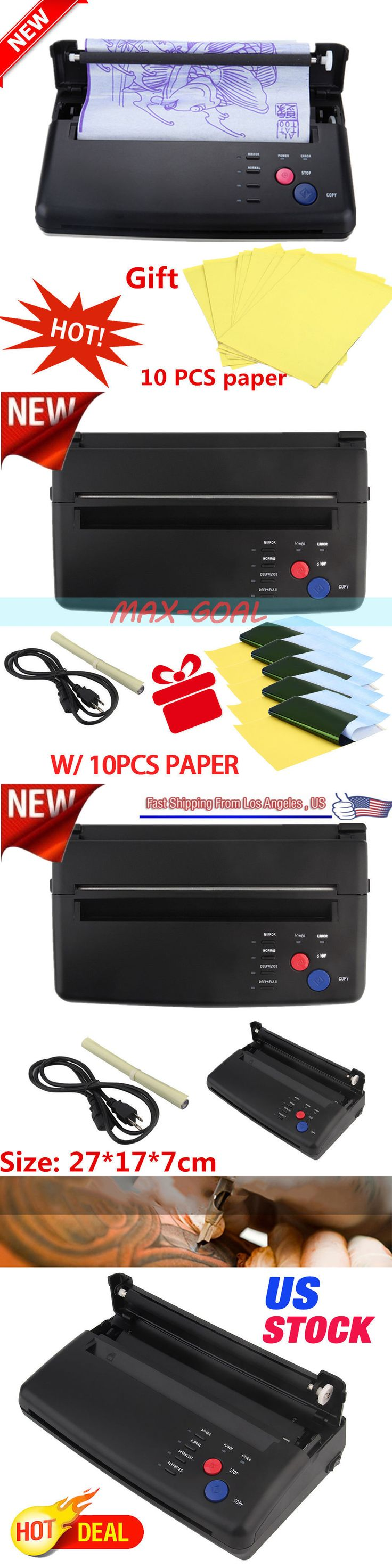 Stencils and Accessories: Tattoo Stencil Maker Transfer Machine Flash Thermal Copier Printer +10 Papers Oy BUY IT NOW ONLY: $121.95