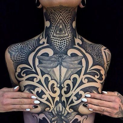 black and grey neck tattoos - Google Search