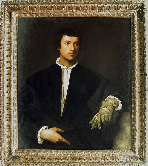 Tiziano VECELLIO, known as TITIAN (Pieve di Cadore, 1488/1490 - Venice, 1576)  Man with a Glove