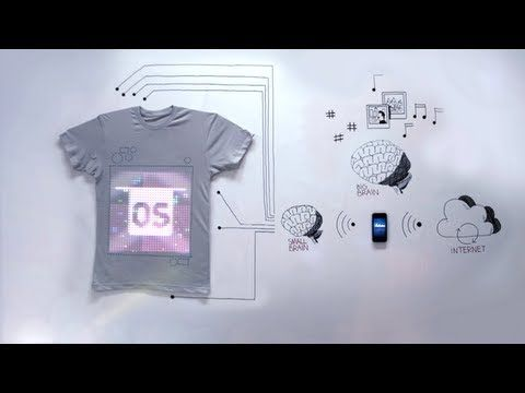 Would you wear an Internet connected shirt?? This is kind of crazy!