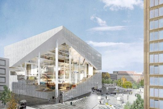 OMA's winning proposal for the Axel Springer Campus in Berlin. Image Courtesy of Axel Springer SE