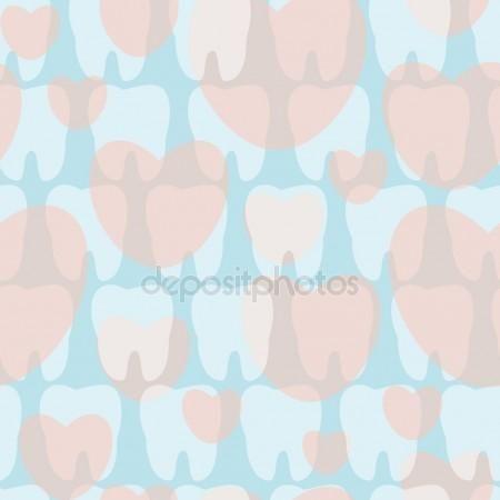 Descargar - Patrón de los dientes en tonos pastel — Ilustración de stock #35683639
