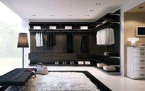 Love huuuge walk-in closets!