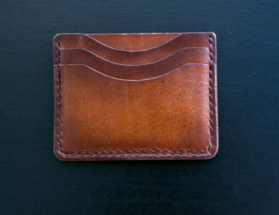 Front pocket wallet leather cardholder by LeatherAtelierLeven