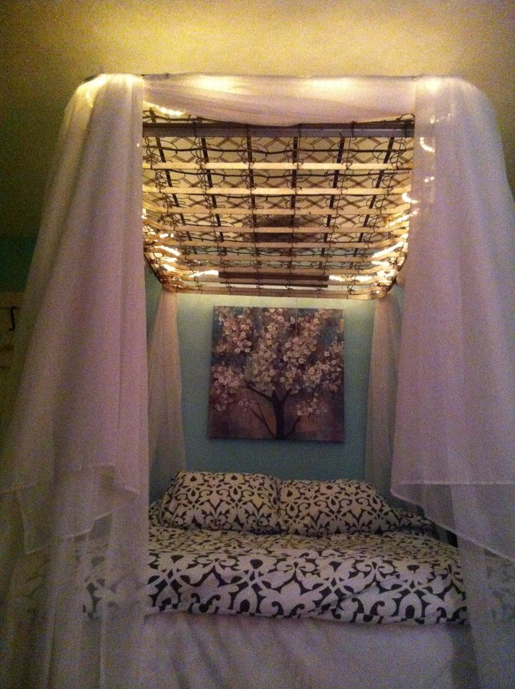 My Old Box Spring Canopy Bedroom Ideas In 2019 Diy