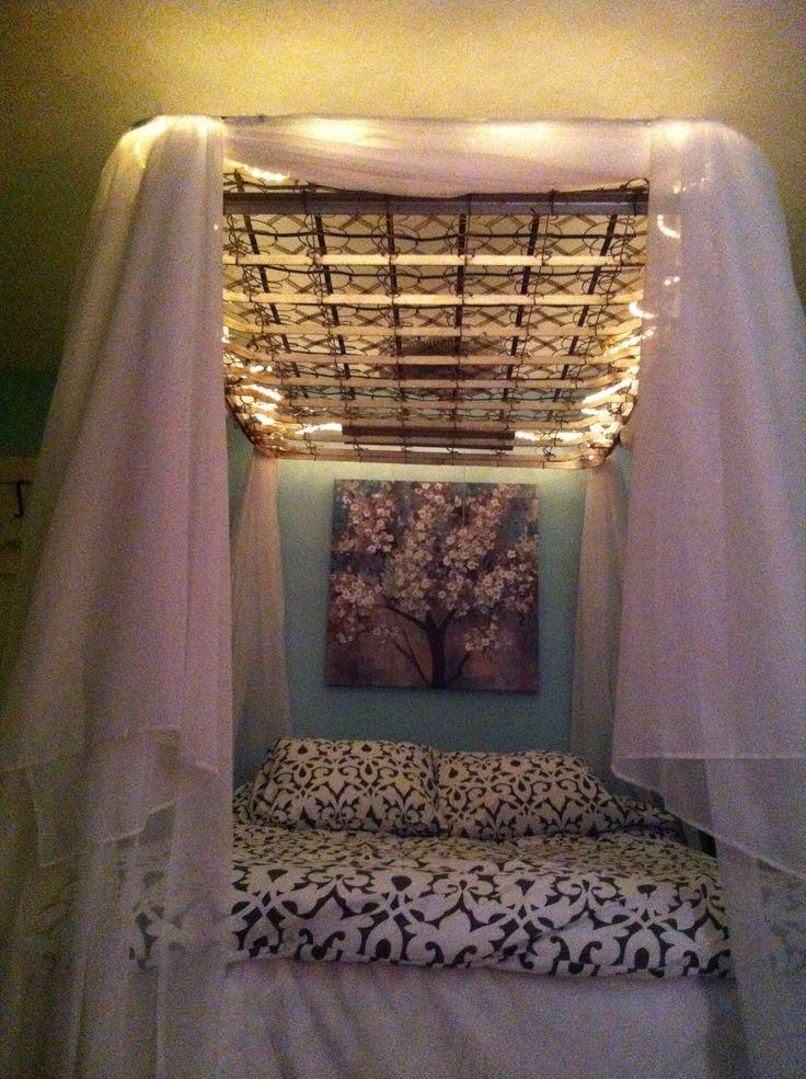 My old box spring canopy  Bedroom Ideas in 2019  Diy