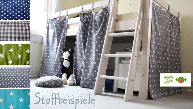 Hochbetten - Vorhang für Kinderhochbett - ein Designerstück von achwiegut bei DaWanda