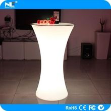 plastic material waterproof table sets / LED glowing bar party table LED light up bar table