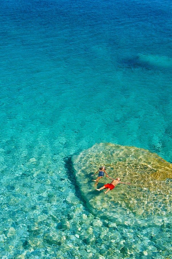Floating in Seychelles Beach, Ikaria Greece