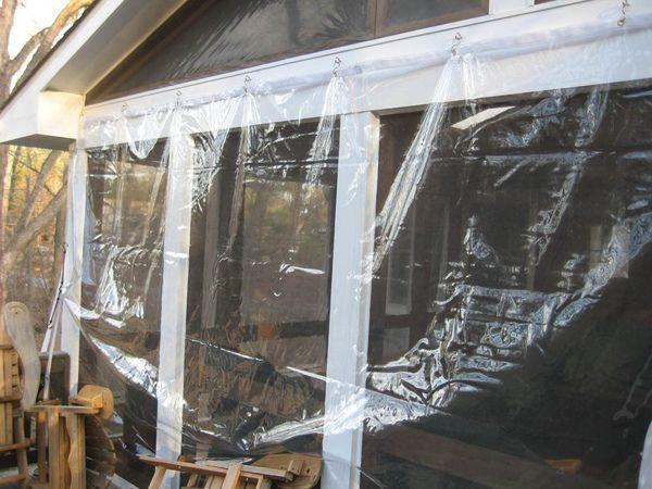 Enclosing Porch With Vinyl Screws S Hooks Should I Hang It Inside Or Outside Modern Design In 2020 Porch Enclosures Screened In Porch Porch Vinyl