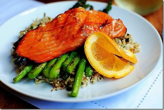 Maple salmon & grilled asparagus | Healthy/motivation | Pinterest