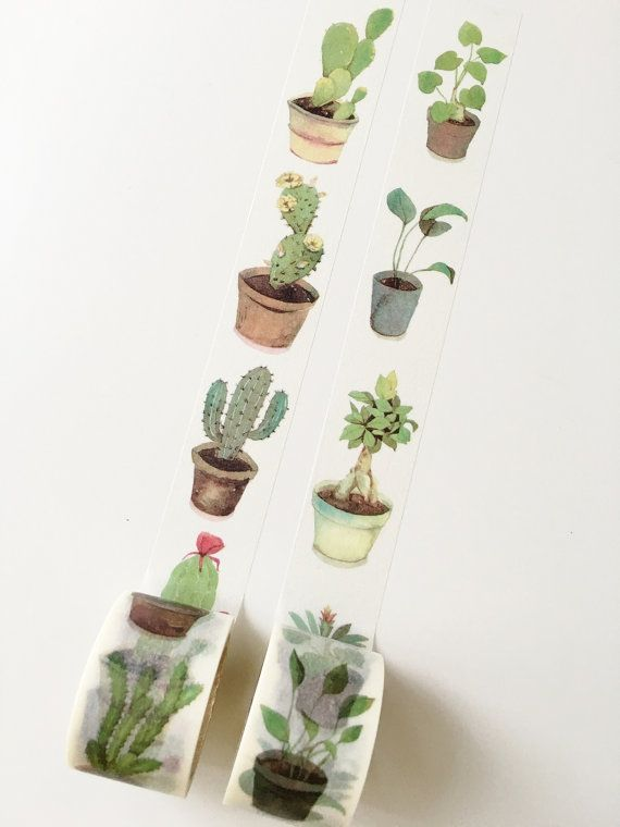 Usine & succulentes Washi Tape / / MT Washi Tape                                                                                                                                                                                 Plus