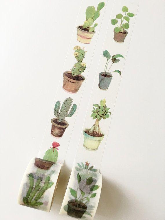 Plant & Succulent Washi Tape // MT Washi Tape
