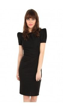 Mad-Men-Style-Fitted-Shift-Dress-Black-D1785-5