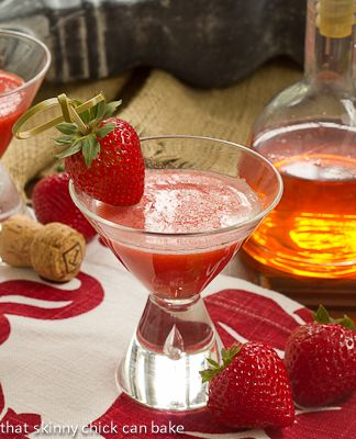 Strawberry Bellinis @That Skinny Chick Can Bake!!!