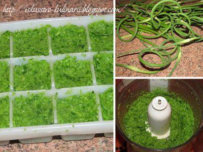 Постигая искусство кулинарии... : Паста-приправа из чесночных стрелок (заморозка)