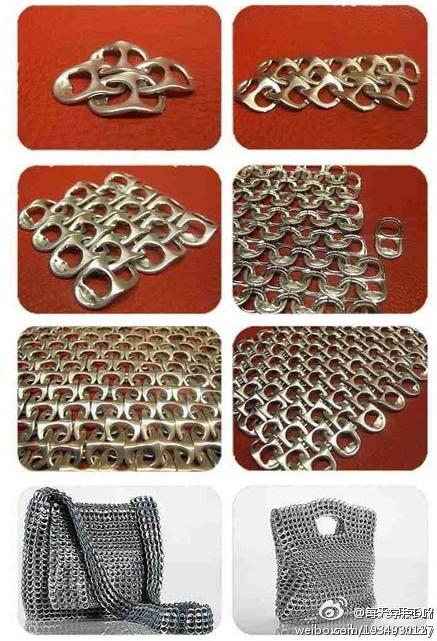 EL MUNDO DEL RECICLAJE: DIY bolso con anillas
