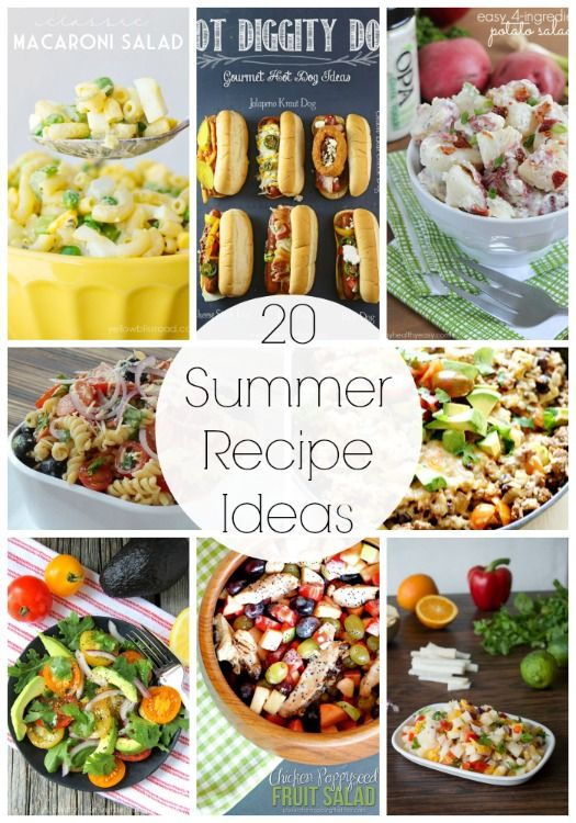 20 delicious recipes for Summer featured on iheartnaptime.com