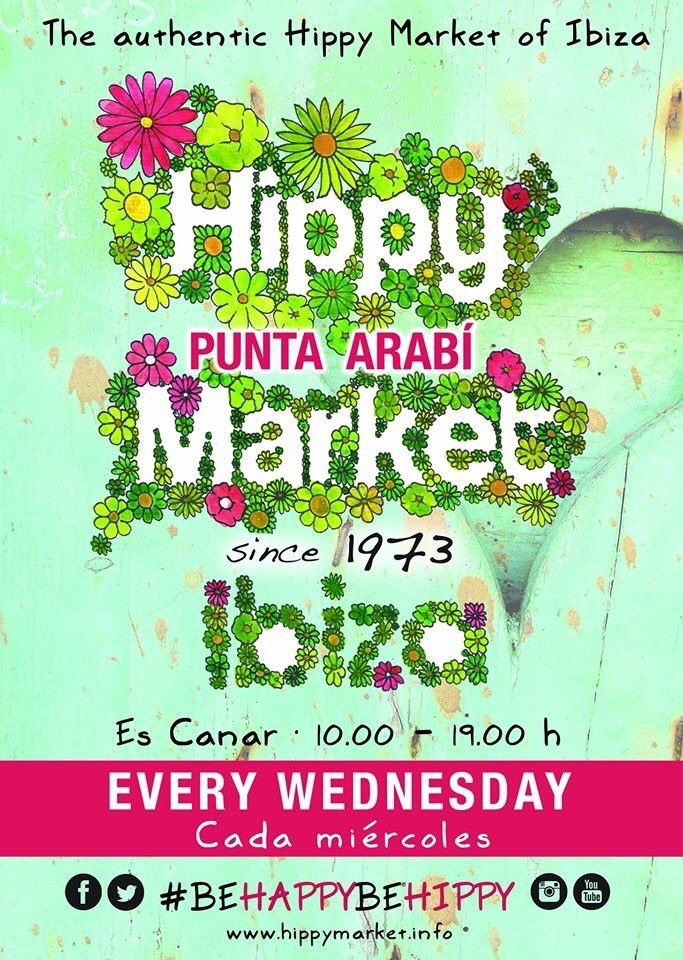 Todos los miércoles, mercadillo en Punta Arabí Punta Arabí Hippy Market started in the seventies and since then keeps marking the pace of Ibiza during summer Wednesdays. http://www.ibiza.travel/en/articulo.php?fid=2226 http://www.ibiza.travel/es/articulo.php?fid=2226