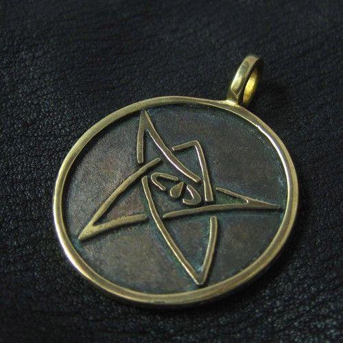 Bronze Elder Sign pendant from The Sunken City by DaWanda.com