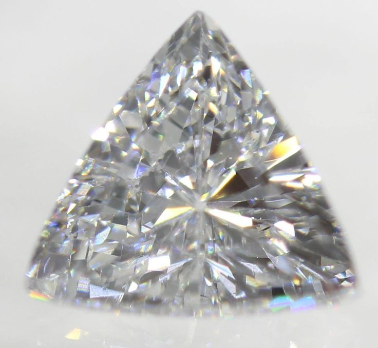 0.08 Carat E Color VVS1 Triangle Natural Loose Diamond by HassanDiam on Etsy