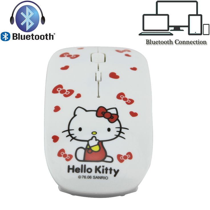 Cute Ultra Thin Hello Kitty Wireless Bluetooth Mouse Bluetooth 3.0 Optical Mouse 2.4G Wireless Gaming Mouse for Girls PC Laptop