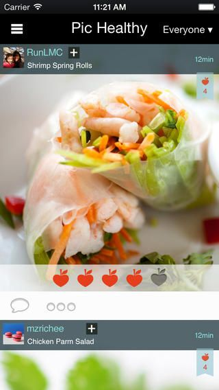 Pic Healthy - Photo Food Diary App to Share Photos of your Food and Meals, Compare Food Pix with Friends, Get Health Rating, Earn Points for Eating Healthy by MedHelp