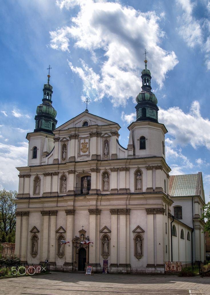 view on St Bernards Church in Krakow, Poland - view on St Bernards Church in Krakow, Poland.