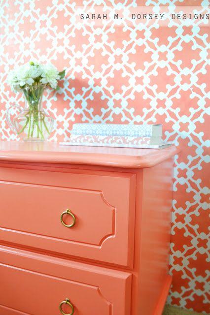best 25 coral painted furniture ideas on pinterest. Black Bedroom Furniture Sets. Home Design Ideas