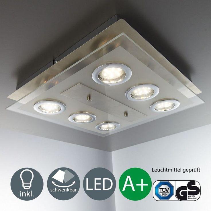 Led Deckeleuchte 6 Strahler Spot Lampe Schlafzimmer
